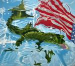 """my america"" - oil on canvas 54""x72"" 2006"